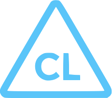 Blue CL Chlorine icon