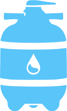Blue Pool filter clean icon