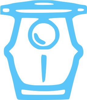 Blue pool pump equipment icon